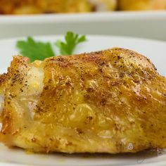 The Best, Easy Crispy Oven Baked Chicken Thighs Recipe - * Best Popular Whole - baked chicken recipes - Baked Chicken Chicken Thigh Recipes Oven, Oven Fried Chicken Thighs, Oven Baked Chicken Tenders, Crispy Oven Baked Chicken, Easy Chicken Recipes, Easy Recipe For Baked Chicken Thighs, Bake Chicken In Oven, Breaded Chicken Recipes, Recipe Chicken