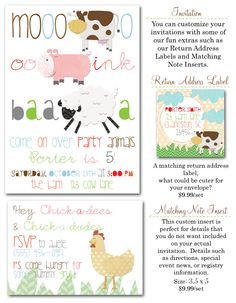 farm party invites, barnyard birthday party, farm party, cow party invitations, farm invites, farm party decor, farm themed party via party box design