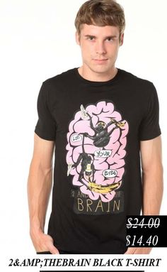 50% Discount. 2 The Brain Black t-shirt. Now it's only.... $14.40