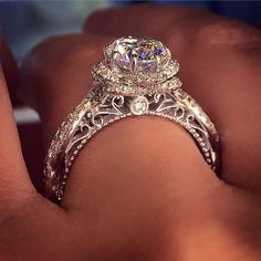 Who wouldn't want this amazing Verragio Floral Engagement ring?!