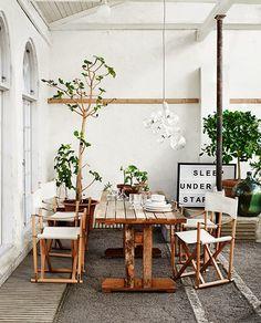 Outdoor table. Lotta Agaton + Pia Ullin for Residence
