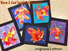 mrspicasso's art room: Warm & Cool Swirling Leaves
