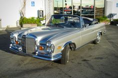 """Alan's Dad's Mercedes  Classic auto aficionados alternately salivated and cringed to witness this 1969 Mercedes-Benz 280 SE convertible cruised and abused in Las Vegas in the 2009 hit comedy """"The Hangover.""""     One of five models built for the movie, this Mercedes is one of the beauties that didn't do stunts. It's a timeless car that if fully restored, can be worth upwards of $130,000"""
