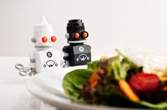 Great, Gifts to Give a Chef or foodies Space Gifts Cool White walking plastic robots in two 2 pack that have salt inside them and pepper for fun man and men dinner party adding salt and pepper grinders Kitchen Chemistry, Salt And Pepper Grinders, Christmas Gifts, Dinner, Holiday Gifts, Dining, Christmas Presents, Dinners