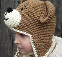 teddy bear Crochet Hats | Crochet Pattern, Bear Hat Crochet Pattern, Teddy Bear Hat, CP-304