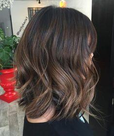 70 Brightest Medium Layered Haircuts to Light You Up - Long Razored Bob for Thick Hair - Brown Hair Balayage, Brown Blonde Hair, Hair Highlights, Balayage Lob, Subtle Balayage, Bayalage, Color Highlights, Medium Layered Haircuts, Bob Hairstyles For Thick