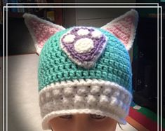 Paw Patrol inspired Everest hat Baymax, Paw Patrol, Crochet Hats, Beanie, Inspired, Character, Inspiration, Knitting Hats, Biblical Inspiration