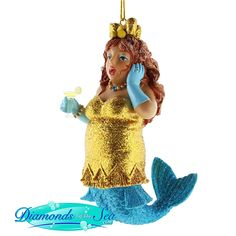 December Diamonds Lemon Drop Mermaid Christmas Ornament