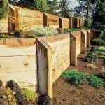 Wood retaining wall: Wood retaining wall decor