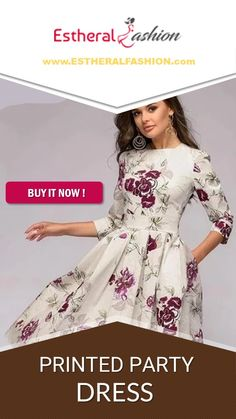 PRINTED PARTY DRESS  Buy Now !!! Trendy Collection, Buy Dress, Buy Now, Party Dress, Collections, Printed, How To Wear, Stuff To Buy, Dresses