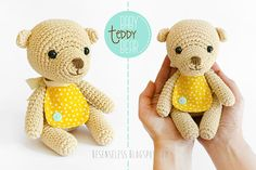 Amigurumi teddy baby bear - Orsetto a uncinetto - besenseless.blogspot.com