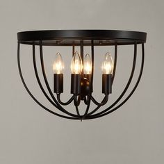 close to the ceiling lighting fixtures colonial style - Google Search
