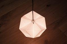 Pentagon 1.2SquareM | VRAEY Paper hanging lamp. Handmade design. LED light. Warm light. Graphic. Origami