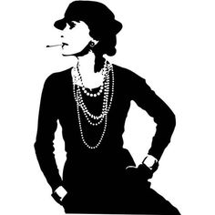 NAKLEJKA. Coco Chanel, 50 x 73 cm, 90 zł, naklejkiscienne.pl - zdjęcie ❤ liked on Polyvore featuring people, chanel, backgrounds, drawings and models