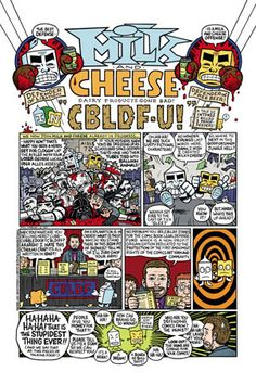 If you've never read Evan Dorkin's Milk and Cheese....it's worth hunting down the Dark Horse hardcover anthology. You'll never laugh harder in your life.