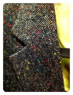 Donegal tweed is going to be big this fall. Love this classic brown multi fleck by Robert Talbott.
