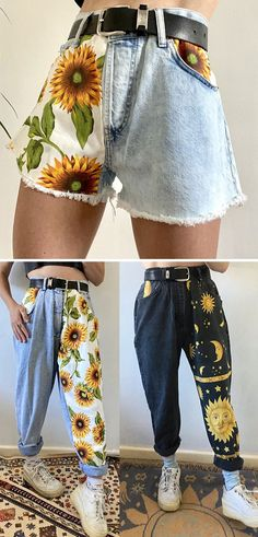 Sewing Clothes, Diy Clothes, How To Make Clothes, Fashion Pants, Fashion Outfits, Kleidung Design, Mode Kawaii, Jugend Mode Outfits, Look Boho