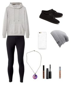 """kimberly"" by carolinia on Polyvore featuring Jockey, MANGO MAN, Urban Decay, MAC Cosmetics, Lord & Berry and The North Face"