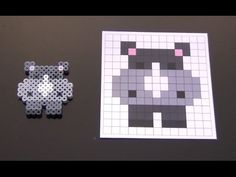 Cute Rhino Perler Bead Pattern.  Laceys Crafts is all about sharing super simple and adorable crafts for kids. Enjoy!