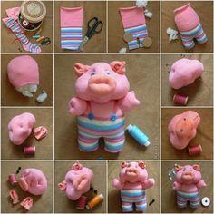 How to DIY Cute Sock Piglet   iCreativeIdeas.com Follow Us on Facebook --> https://www.facebook.com/icreativeideas