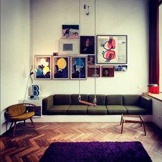 Cor, design e arte. #decoracao #casavogue