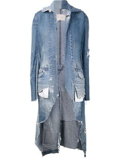 Shop GREG LAUREN 'The 501' Dickens jacket from Farfetch