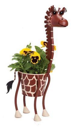 Dottie the Giraffe - indoor or outdoor (garden) décor plant stand Giraffe Crafts, Giraffe Decor, Giraffe Art, Cute Giraffe, Giraffe Painting, Garden Plant Stand, Plant Stands, Giraffe Clothes, Mini Vasos