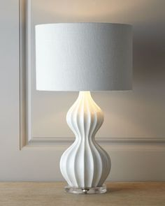 White Peanut Lamp - Neiman Marcus - what a really interesting lamp design!