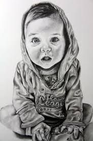 Image result for pencil portraits of human babies