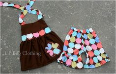 Pageant Wear Custom Boutique Disco Dot Short and Halter Set size 12 18 24 2t 3t 4t 5t 6 7 girl on Etsy, $39.99