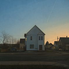 "Linden Frederick ~ ""Tenant"" (2013) oil on linen, 55 x 55 in. via Forum Gallery *their detail enlarger is worth a visit*"