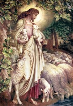 One of my favorite Good Shepherd paintings: 'The Lost Lamb' by Fredrick James Shields Catholic Pictures, Pictures Of Jesus Christ, Jesus Christ Painting, Jesus Art, Heart Of Jesus, Jesus Is Lord, Christian Images, Christian Art, Lamb Pictures
