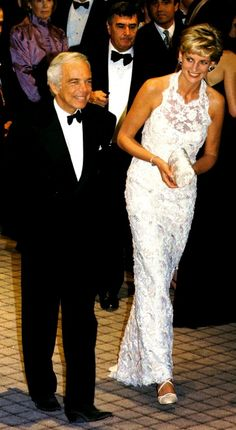 Princess Diana and Ralph Lauren at a charity event in Washington, D.C. in September 1996.