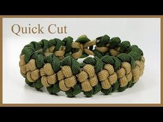 "Paracord Bracelet Tutorial: ""Boxed Trail"" Bracelet Design Quick Cut - YouTube"