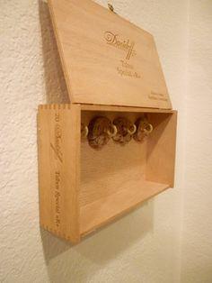 Repurposed Cigar Boxes-- Key Storage