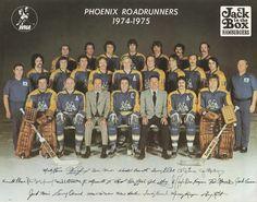 1974-75 Phoenix Roadrunners (WHA) team photo