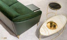 #kler #meblekler #klermeble #klerdesign #designkler #excellence #klerexcellence #wnętrza #Gondoliere #green #zieleń #zielonyakcent #złoto #gold #new  #sofa #salon #projektowanie #design #meble #dom #komfort #jakość #quality #wypoczynek #styl  #style #modern #relaks #relax #furniture #furnituredesign #interior #interiordesign #home  #dom #dodatki #dekoracje #homedecor #stolik #stolikkawowy #coffeetable Tub Chair, Teak, Accent Chairs, Green, Furniture, Home Decor, Design, Living Room, Upholstered Chairs