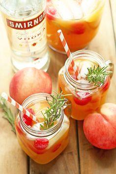 Peach Nectar Punch | Grandbaby Cakes