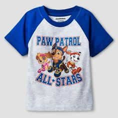 Baby Boys' PAW Patrol All Star Pups® Short Sleeve T-Shirt - Heather Grey &…