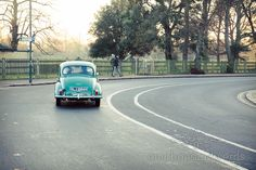 Vintage Morris Minor Wedding Car in Richmond, London. Photography by one thousand words wedding photographers