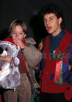 Kirk Cameron and Brian Bosnall in 1988 Kirk Cameron, Fact Families, Young Actors, Christmas Sweaters, Music, Facts, Fictional Characters, Musica, Musik