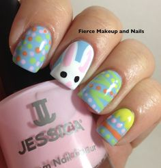 Colorful Bunny Nails of Easter, Fierce Makeup ideas, DIY Nail Art #2014 #easter #bunny #nails www.loveitsomuch.com
