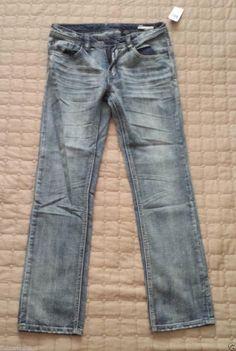#Buffalo David Bitton men jeans EVAN 30x32 Supper Slim Cut NWT visit our ebay store at  http://stores.ebay.com/esquirestore