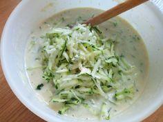 Cukkini palacsinta recept lépés 4 foto Cabbage, Grains, Vegetables, Recipes, Food, Diet, Recipies, Essen, Cabbages