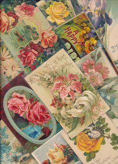 Nice~Lot of 25 Vintage ~BIRTHDAY~ Greetings Happy Birthday Postcards Lot-ttt645 #greetings