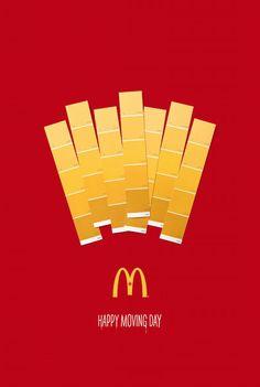 McDonald's lanza campaña grafica con muestras de pintura