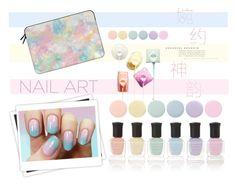 """Pastels"" by youaresofashion ❤ liked on Polyvore featuring beauty, GALA, Deborah Lippmann, Casetify and pastelnails"