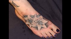 Related Flower Thigh Tattoos For Women Small Flower Hip Tattoos