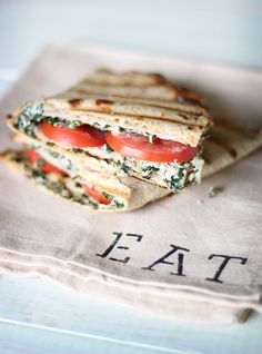 What's for lunch? Turkey Artichoke Paninis.