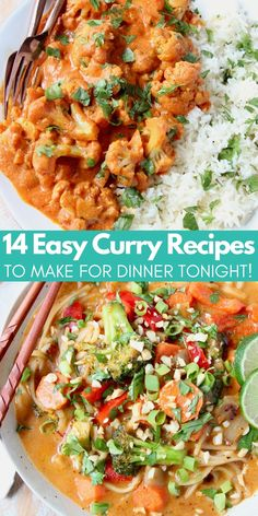 Spice up your dinner table with these 14 delicious curry recipes! From Thai to Indian, vegetarian to chicken, you'll love these quick